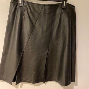 Burberry Leather midi skirt